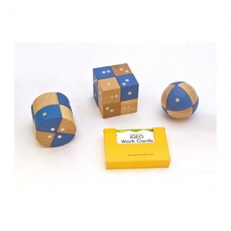 Imagine 10Joc magnetic din lemn Figuri geometrice 24 piese
