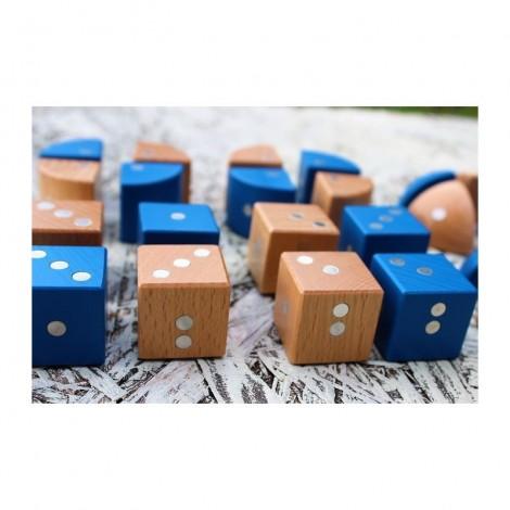 Imagine 11Joc magnetic din lemn Figuri geometrice 24 piese