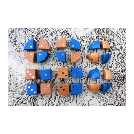 Imagine 12Joc magnetic din lemn Figuri geometrice 24 piese