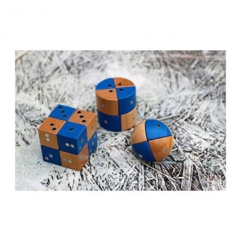Imagine 13Joc magnetic din lemn Figuri geometrice 24 piese