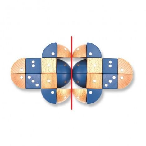 Imagine 2Joc magnetic din lemn Figuri geometrice 24 piese