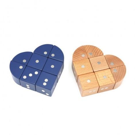 Imagine 4Joc magnetic din lemn Figuri geometrice 24 piese