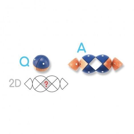 Imagine 6Joc magnetic din lemn Figuri geometrice 24 piese