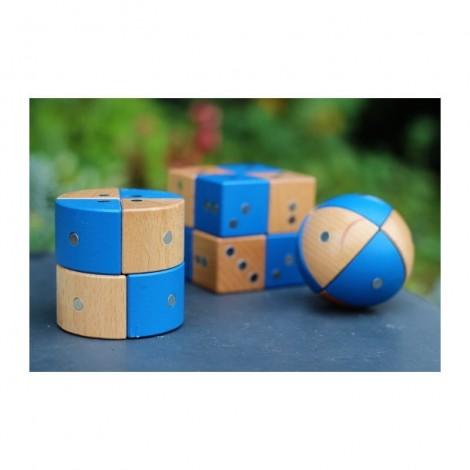 Imagine 7Joc magnetic din lemn Figuri geometrice 24 piese