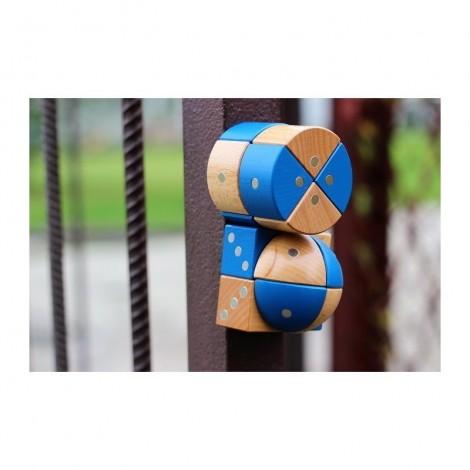 Imagine 8Joc magnetic din lemn Figuri geometrice 24 piese
