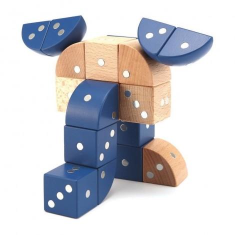 Imagine 1Joc magnetic din lemn Figuri geometrice 24 piese