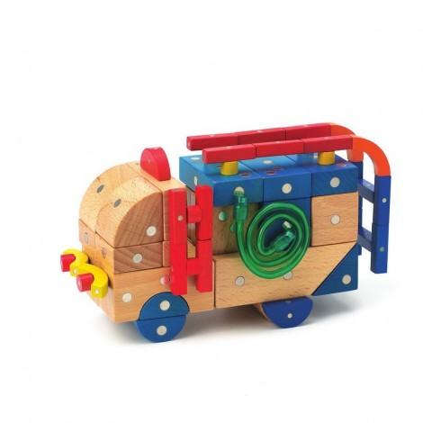 Imagine 3Joc magnetic din lemn Mijloace de transport 110 piese