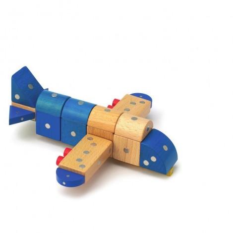 Imagine 5Joc magnetic din lemn Mijloace de transport 110 piese