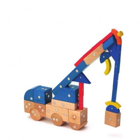 Imagine 6Joc magnetic din lemn Mijloace de transport 110 piese