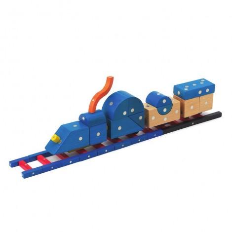 Imagine 7Joc magnetic din lemn Mijloace de transport 110 piese