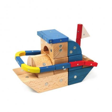 Imagine 8Joc magnetic din lemn Mijloace de transport 110 piese