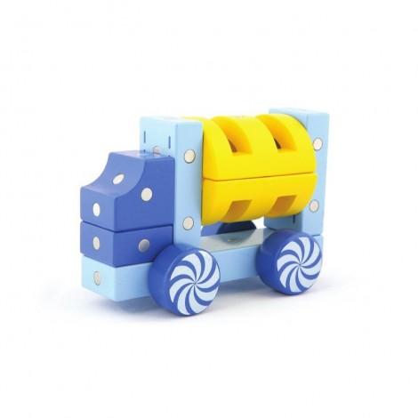 Imagine 2Joc magnetic din lemn Vehicule terestre 34 piese