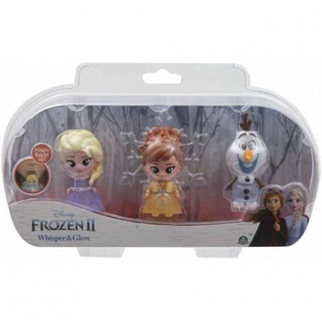 Imagine 2Set 3 Mini Figurine Elsa Anna si Olaf Whisper and Glow Frozen 2