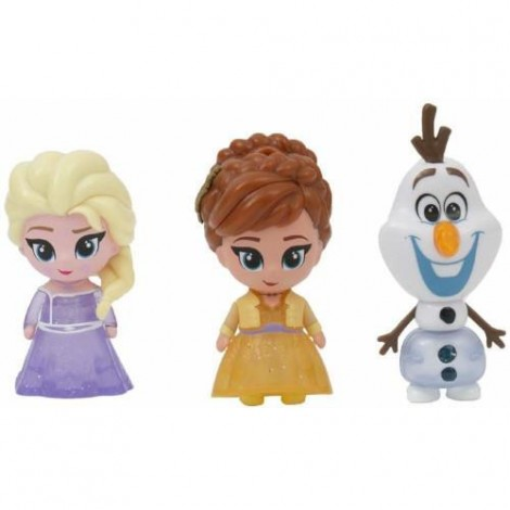 Imagine 1Set 3 Mini Figurine Elsa Anna si Olaf Whisper and Glow Frozen 2