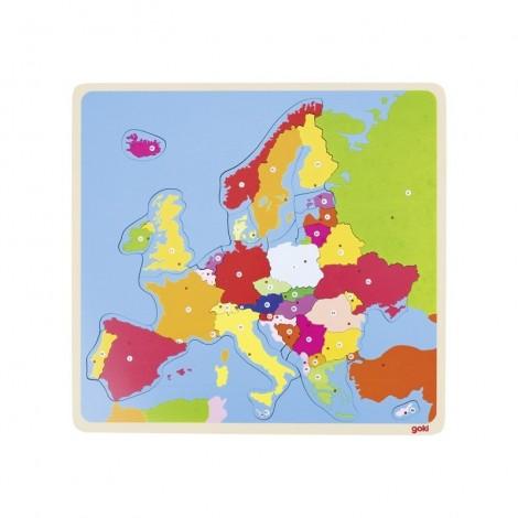 Imagine 1Puzzle din lemn Harta Europei