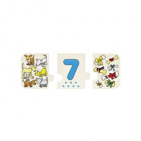Imagine 2Puzzle lemn cu autocorectie Invata Numerele