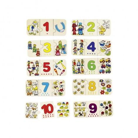 Imagine 1Puzzle lemn cu autocorectie Invata Numerele