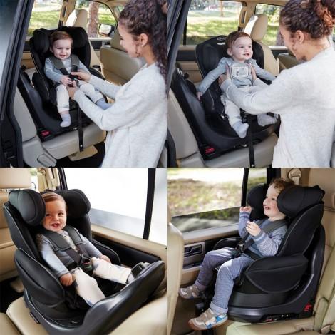 Imagine 14Scaun auto Turn2Reach Midnight Gray 360°cu Isofix 0-18 kg