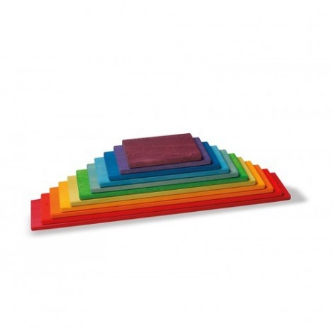 Imagine 2Set de constructie cu 11 placi, model curcubeu