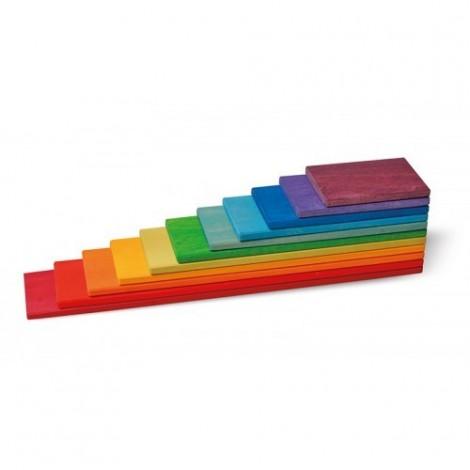 Imagine 3Set de constructie cu 11 placi, model curcubeu