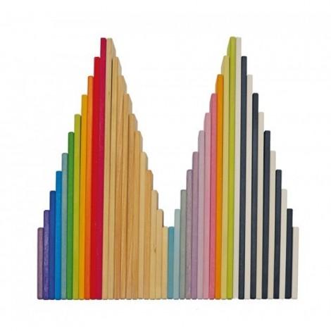 Imagine 4Set de constructie cu 11 placi, model curcubeu