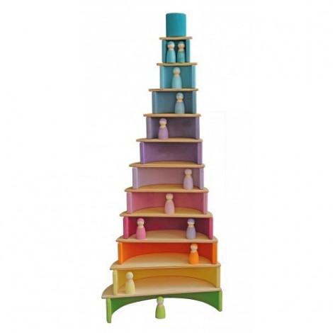 Imagine 5Set de constructie cu 11 placi, model curcubeu