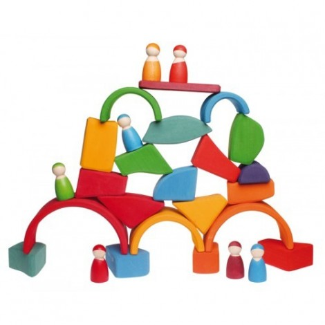 Imagine 3Set Waldorf de constructie cu 15 forme neregulate