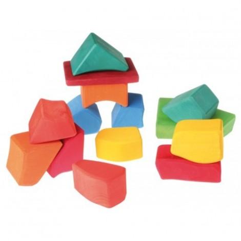 Imagine 1Set Waldorf de constructie cu 15 forme neregulate