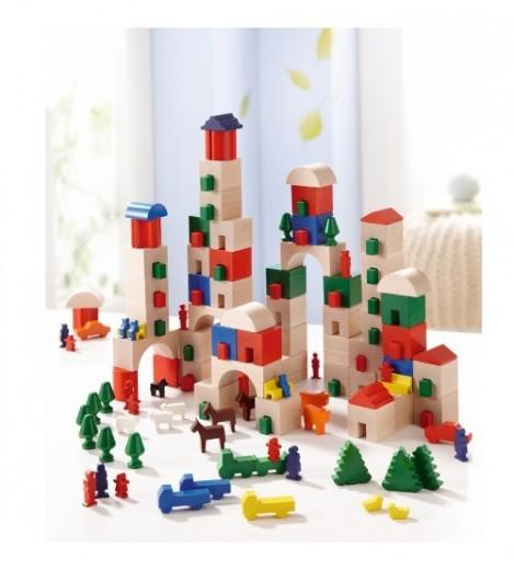 Imagine 1Set de blocuri din Lemn Little Amsterdam, 166 Piese