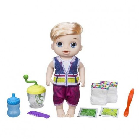 Imagine 3Papusa Bebelus Baietel Blond Baby Alive Sweet Spoonfuls