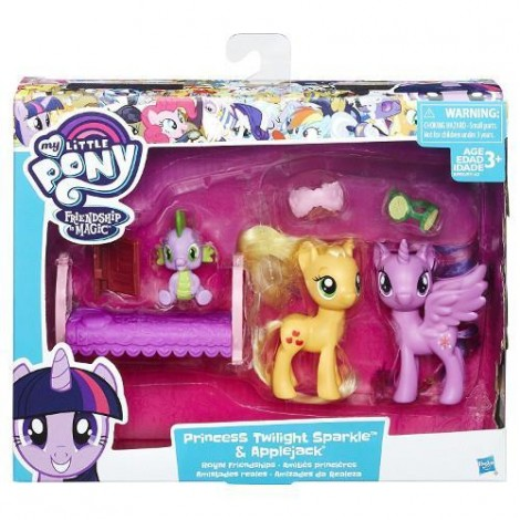 Imagine 1Set Figurine Family Moment Princess Twilight Sparkle si Applejack