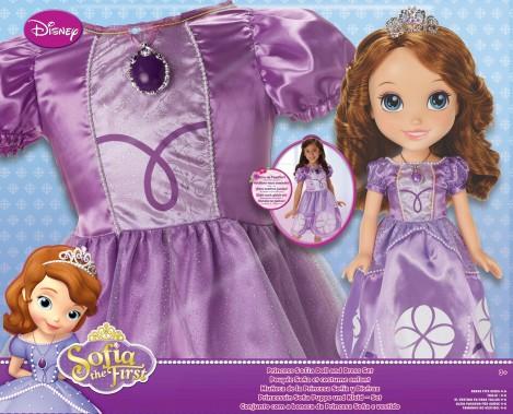 Imagine 1Papusa Sofia cu rochita pentru fetite