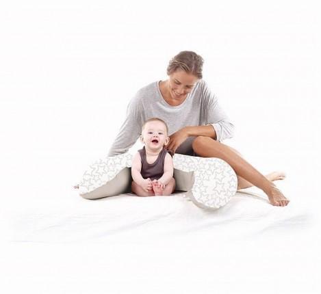Imagine 2Perna Multifunctionala Maternala si Alaptare Pink Stars