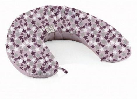 Imagine 3Perna Multifunctionala Maternala si Alaptare Pink Stars