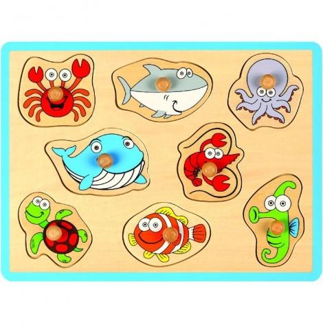 Imagine 1Puzzle din lemn Animale marine