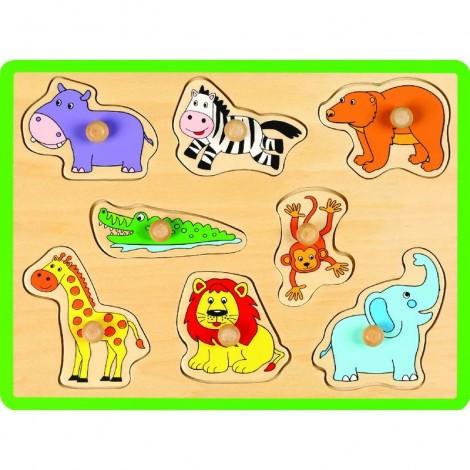 Imagine 1Puzzle din lemn Animale salbatice