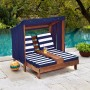 Imagine 2Sezlong Double Chaise Lounge Espresso & Navy