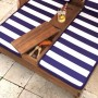 Imagine 3Sezlong Double Chaise Lounge Espresso & Navy