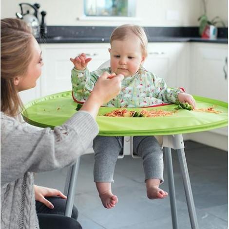 Imagine 12Kit hranire - Baveta si tava Curcubeu