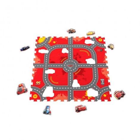 Imagine 1Covor puzzle din spuma Cars 3 Modular Race 9 piese