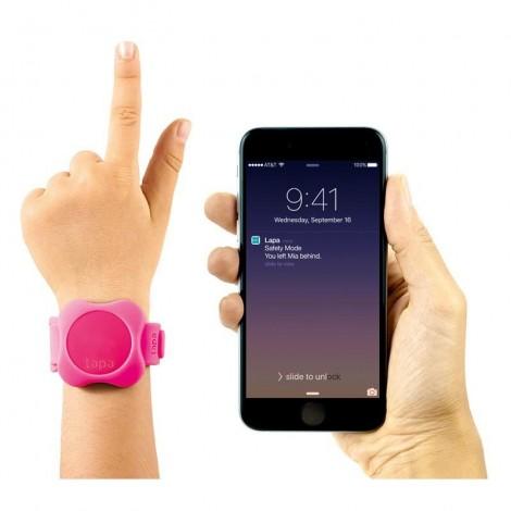 Imagine 2Bratara din silicon pentru localizator bluetooth de urmarire copii Pink