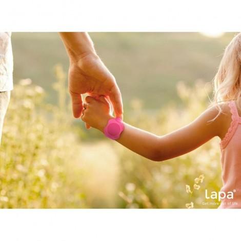 Imagine 5Bratara din silicon pentru localizator bluetooth de urmarire copii Pink