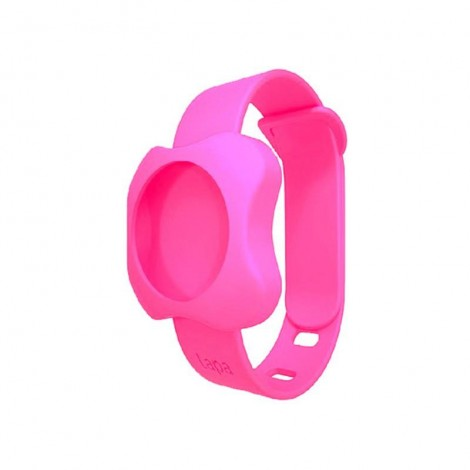 Imagine 1Bratara din silicon pentru localizator bluetooth de urmarire copii Pink
