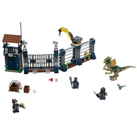 Imagine 2LEGO Jurassic World Atacul Avanpostului cu Dilophosaurus