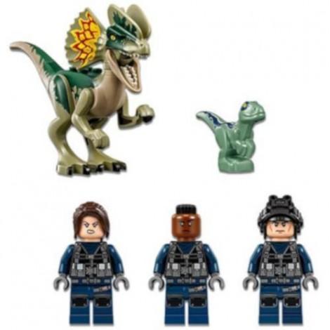 Imagine 3LEGO Jurassic World Atacul Avanpostului cu Dilophosaurus