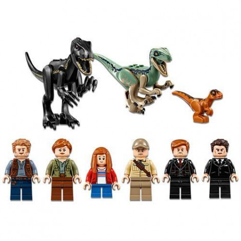 Imagine 5LEGO Jurassic World Furia Indoraptorului pe Mosia Lockwood