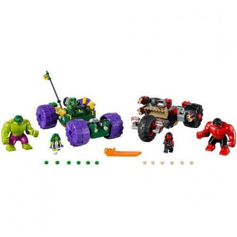 Imagine 2LEGO Marvel Super Heroes Hulk contra Hulk cel Rosu