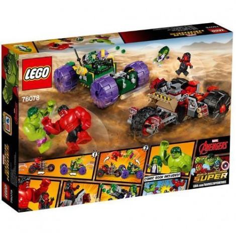 Imagine 3LEGO Marvel Super Heroes Hulk contra Hulk cel Rosu