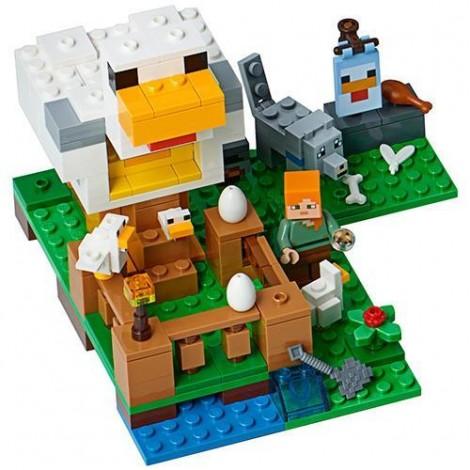 Imagine 2LEGO Minecraft Cotetul de Gaini
