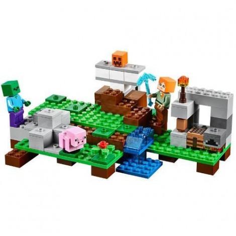Imagine 2LEGO Minecraft Golemul de Fier